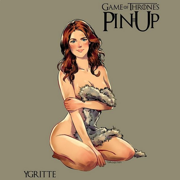 Artist Paints The Women From Game Of Thrones As Pin Up Girls (15 pics)