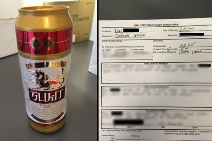 His Work Thought He Was Hiding Beer But It Was Something Else (3 pics)