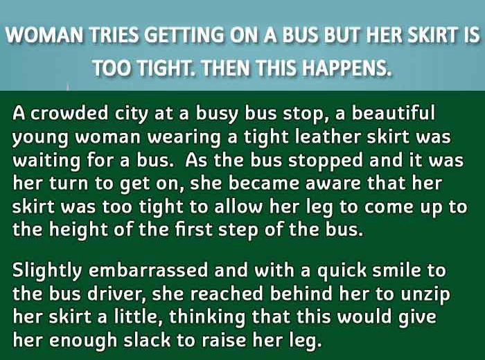 Man Picks Up Woman Who's Having A Hard Time Boarding The Bus (3 pics)