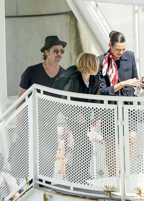 Angelina Jolie And Brad Pitt Pass On First Class As They Fly To Paris (14 pics)