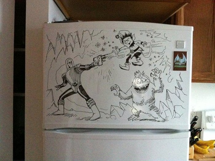 Charlie Layton Creates Masterpieces In The Kitchen On Freezer Friday (40 pics)