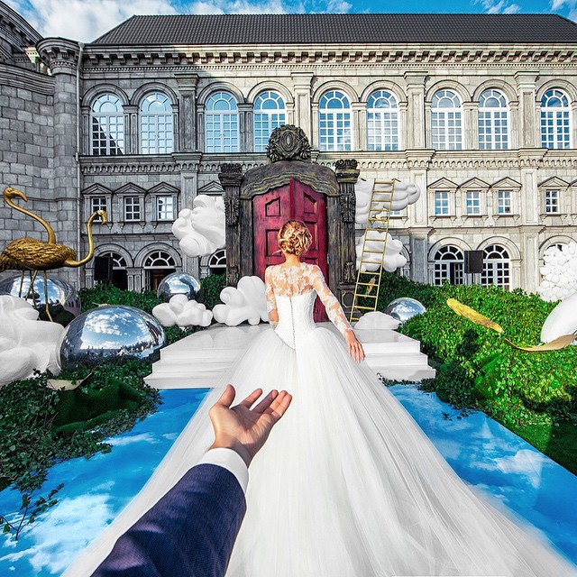 The #FollowMeTo Couple Take A Walk Down The Aisle At Their Own Wedding  (10 pics)
