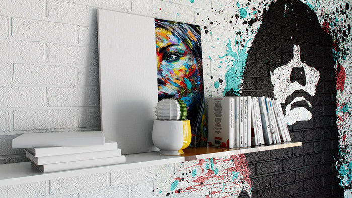 Designer Creates Half White, Half Griffiti Filled Hotel Room (6 pics)