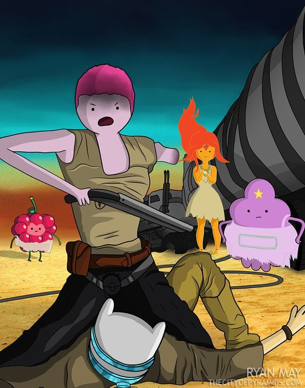 Mad Max And Adventure Time Come Together In This Awesome Mashup (6 pics)