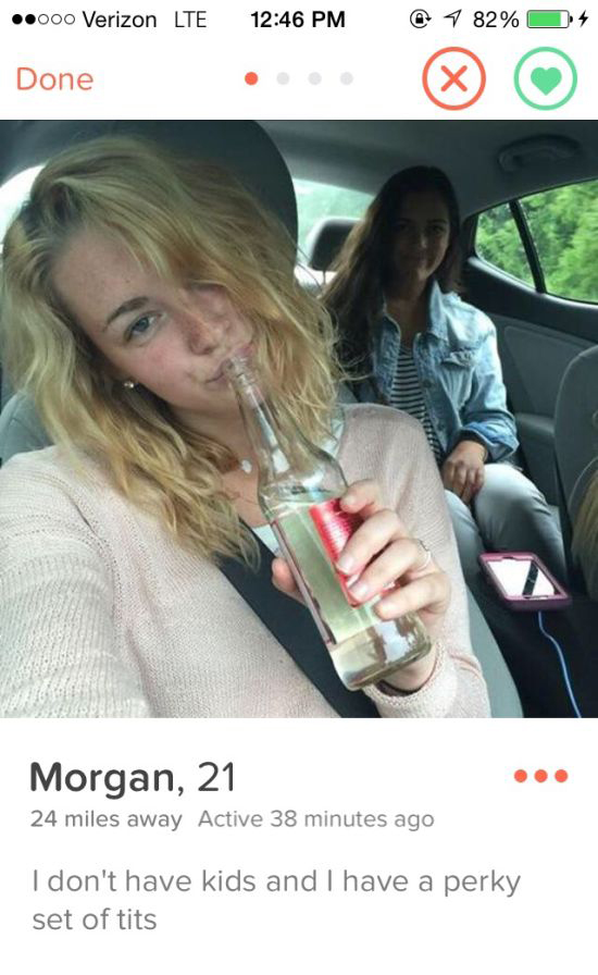 You're Going To Love These Brutally Honest Tinder Girls (8 pics)