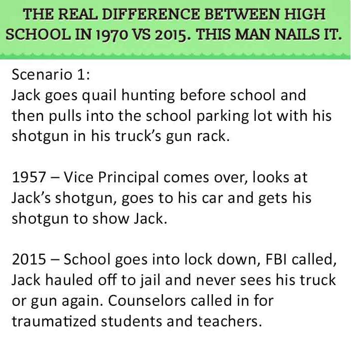 Man Points Out The Differences Between School In 1970 Vs 2015 And Nails It (8 pics)