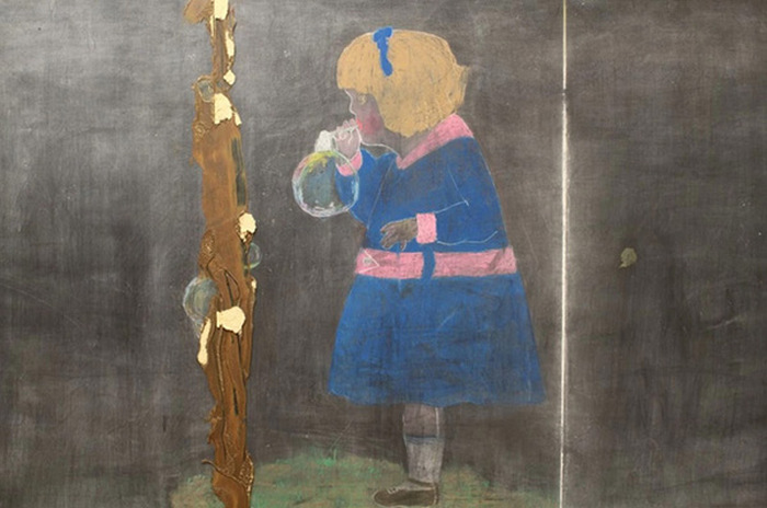 This Oklahoma City High School Discovered 100 Year Old Chalkboard Drawings (9 pics)
