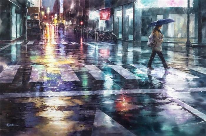 Paisajes urbano en acuarelas por Lin Ching Che