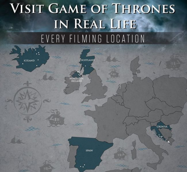 How To Visit Every Filming Location From Game Of Thrones (infographic)