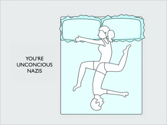How Your Sleeping Position Reveals The Truth About Your Relationship (10 pics)