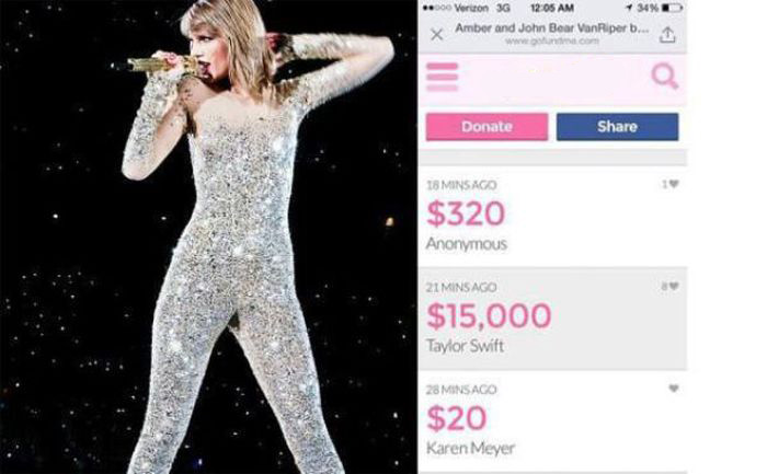 Taylor Swift Donates $15,000 To A Firefighter And His Family (6 pics)
