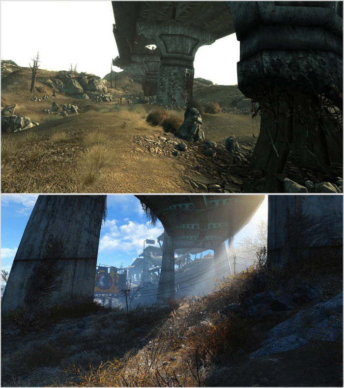 Comparing The Graphics Of Fallout 4 To Fallout 3 (9 pics)