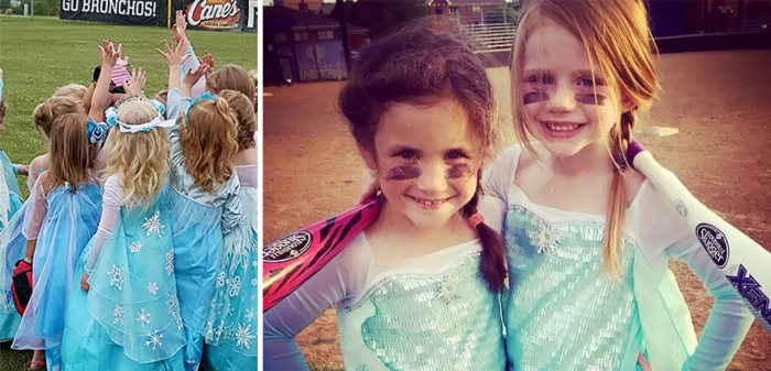 All Girl Softball Team Gets Fierce For A Frozen Photoshoot (7 pics)