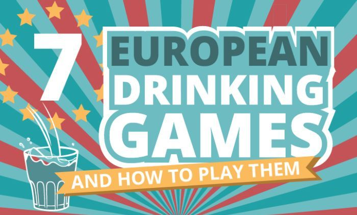 Learn How To Party Hard With These 7 European Drinking Games (infographic)