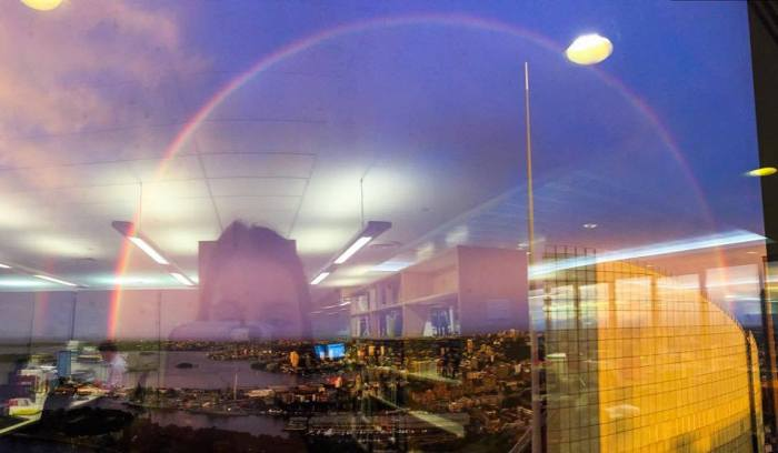 Sydney Residents Enjoy Rare Double Rainbow Shining Above The City (17 pics)