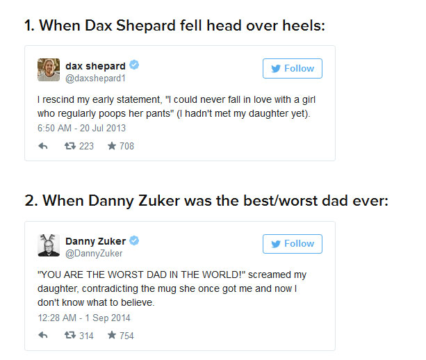 A Tribute To Celebrity Dads And Their Hilarious Tweets (12 pics)