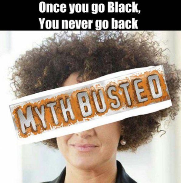 The Internet Reacts To Rachel Dolezal Pretending To Be Black (23 pics)