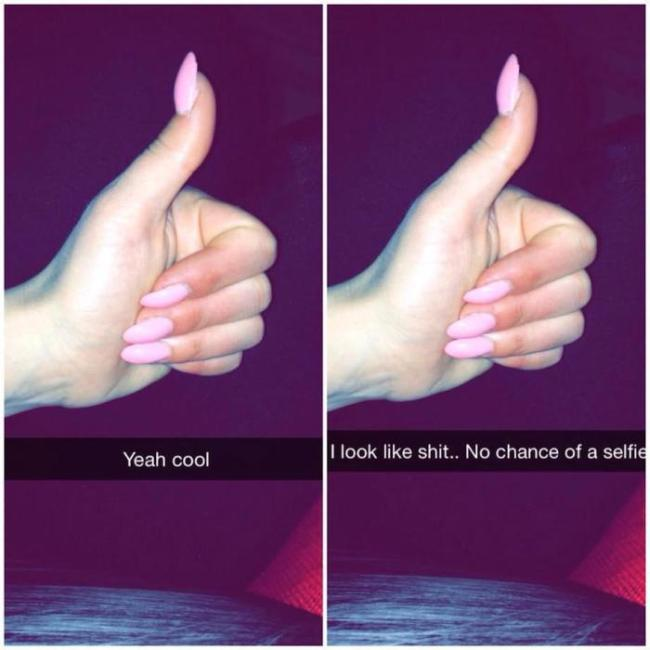 What Snapchat Girls Are Really Trying To Say (8 pics)