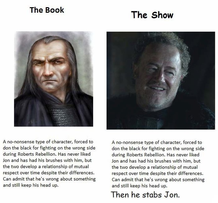 The Biggest Differences Between The Game Of Thrones Books And The Show (13 pics)
