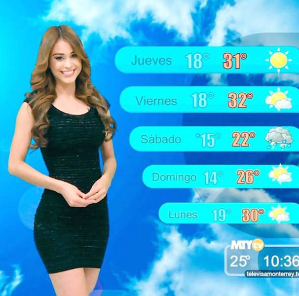 Photos Of Yanet Garcia, Sexy Weather Reporter (23 pics)