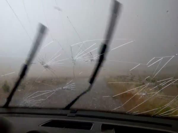 Hail Hit The Car