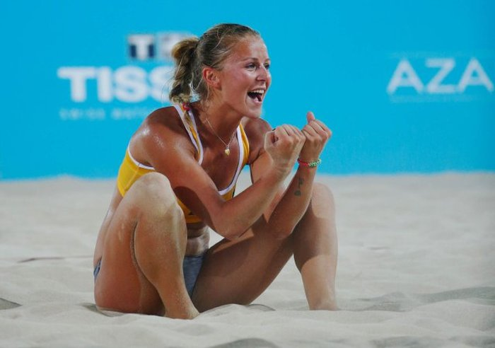 Lithuanias Monika Povilaityte Is Beach Volleyballs -4208