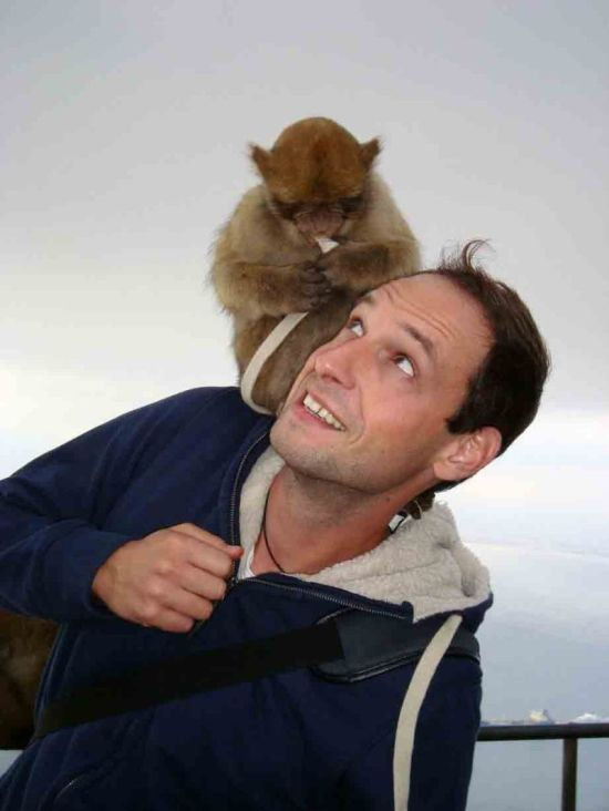 When Taking A Photo With A Monkey Goes Wrong (4 pics)