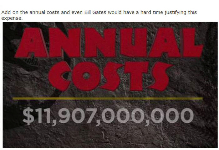 This Is How Much It Would Cost To Build A Real Life Jurassic Park (18 pics)