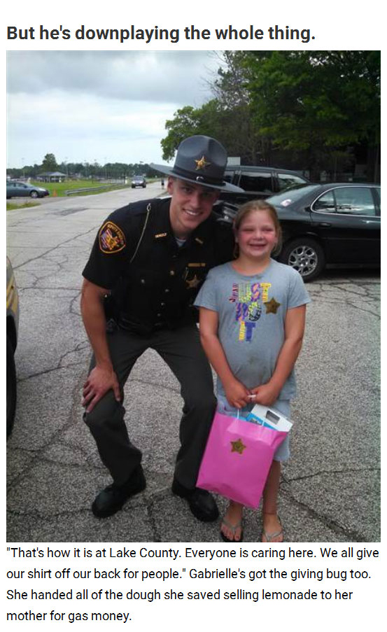 Ohio Police Officer Pays It Forward And Helps Little Girl Achieve Her Goal (3 pics)