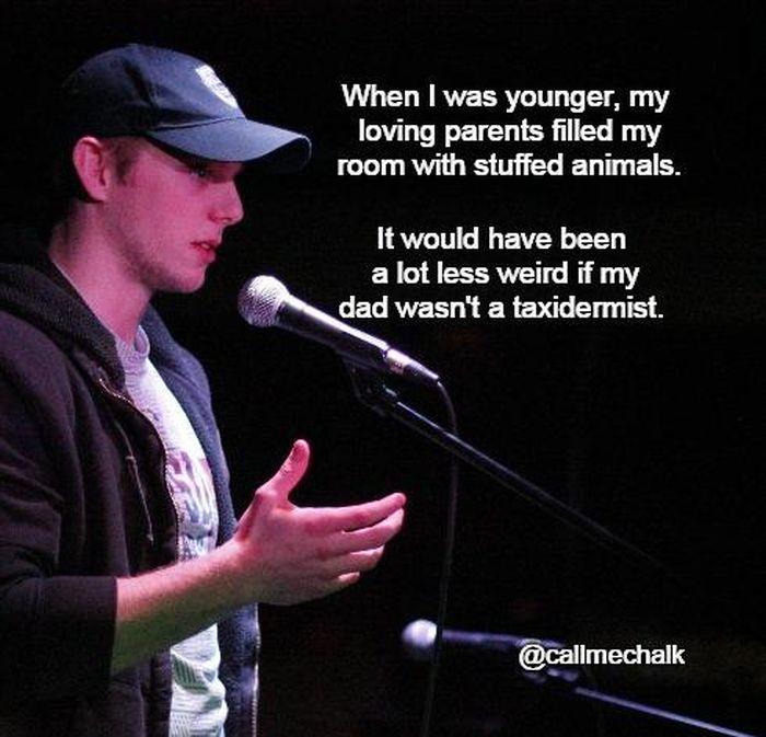 Stand up comedy joke writing app