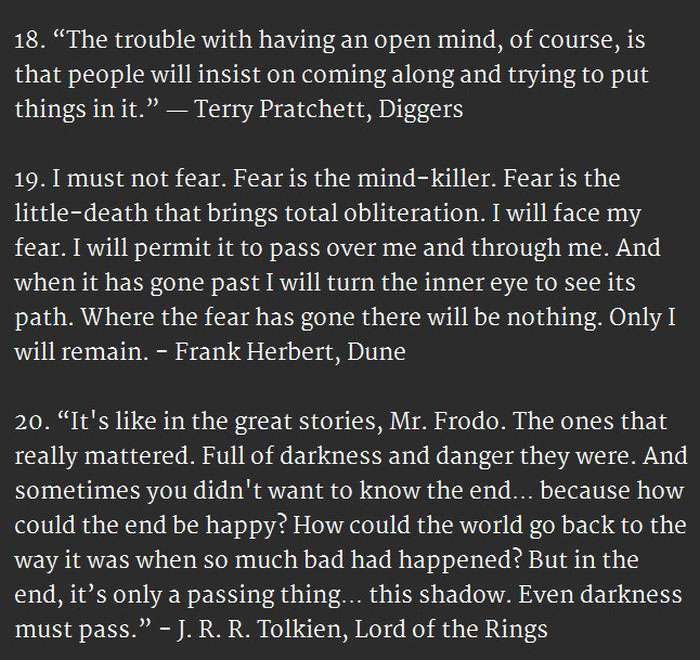 20 Surprisingly Inspirational Quotes From Sci-Fi And Fantasy (6 pics)