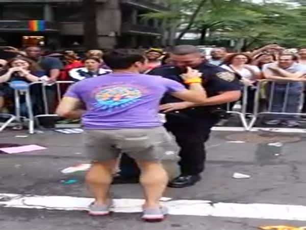 Gay And Cop Dance