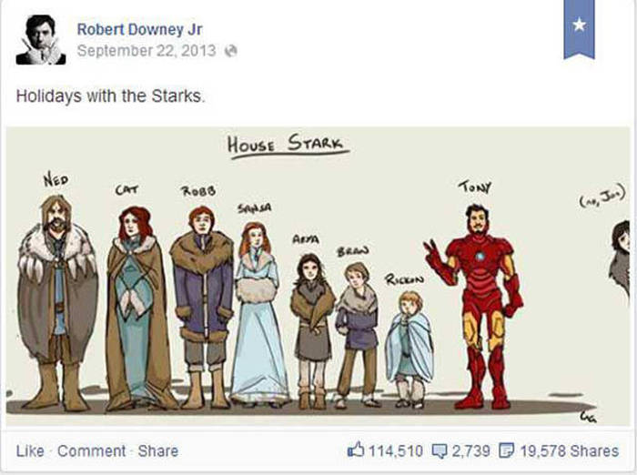 This Is Why You Need To Like Robert Downey Jr. On Facebook (32 pics)