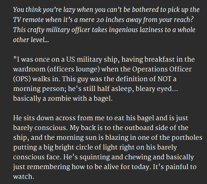 Lazy Military Officer Is Obviously Not A Morning Person (3 pics)