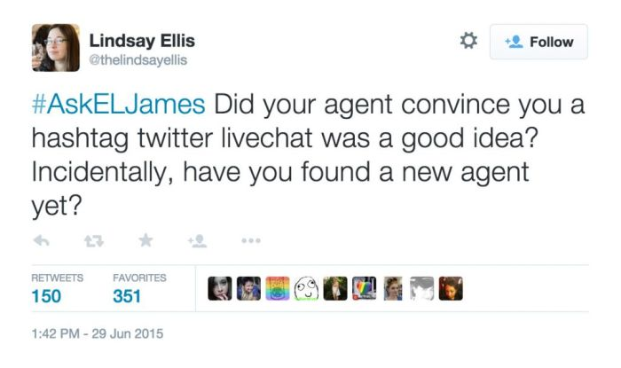 50 Shades Of Grey Author Gets Burned To The Ground During Twitter Q & A (9 pics)