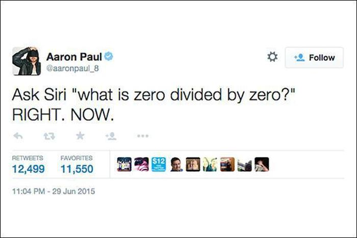 The Internet Reacts After Asking Siri To Divide 0 By 0 (10 pics)