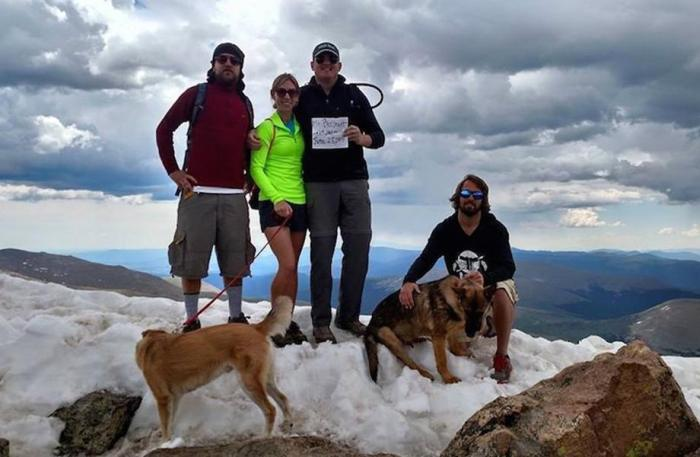 13 Hikers Saved By Dog After Lightning Strikes Down On A Mountain (3 pics)
