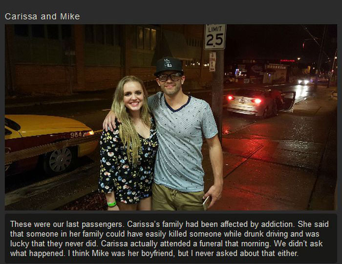 Woman Offers Rides To Strangers To Prevent Them From Driving Drunk (12 pics)