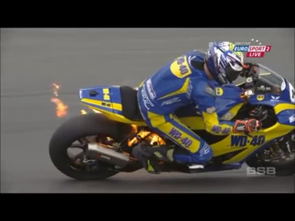 Burning Motorcycle