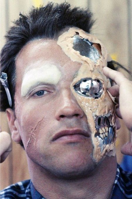 The Evolution Of The Terminator's Makeup From 1984 to 2015 (3 pics)