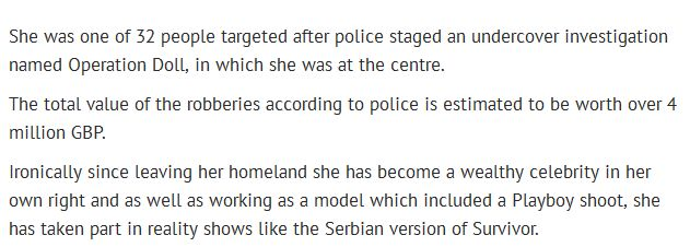 Playboy Model Sent Back To Bosnia After Being Linked To Murders And Robberies (7 pics)
