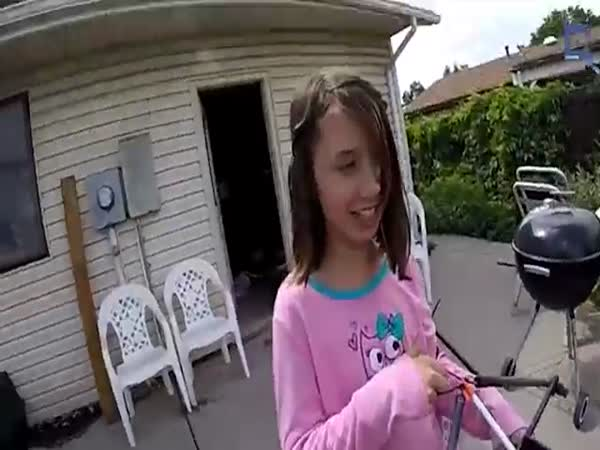 Girl Pulls Her Tooth