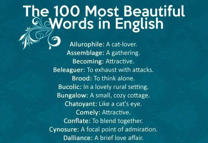 These Are The 100 Most Beautiful Words In The English Language
