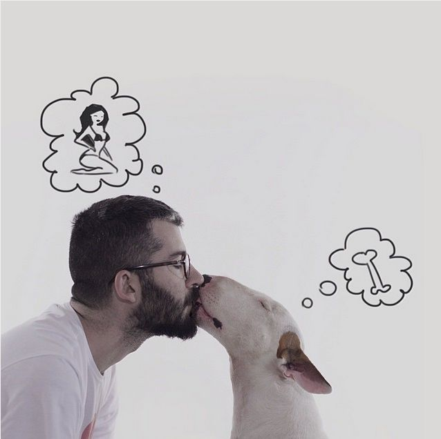 After His Wife Left, This Guy Created An Awesome Photo Series With His Dog (20 pics)