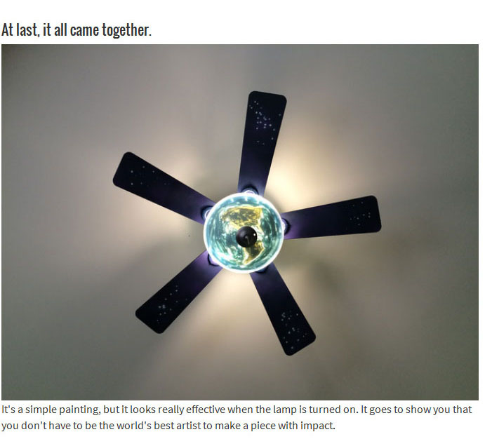 Boring Old Ceiling Fan Gets An Out Of This World Makeover (15 pics)