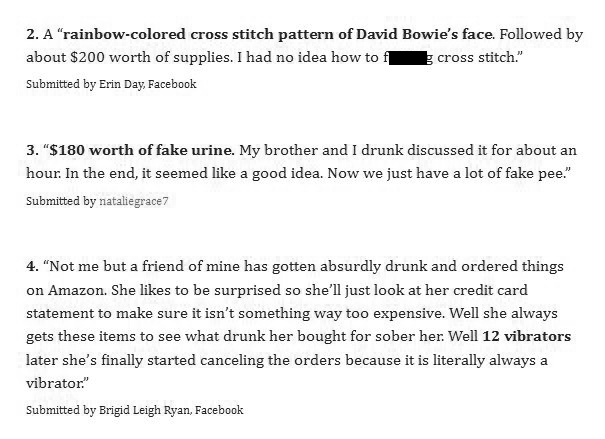 People Reveal The Random Purchases They've Made Online While Drunk (14 pics)