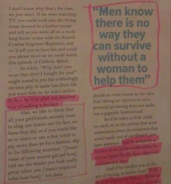 Reading Too Many Women's Magazines Will Make You Stupid (17 pics)