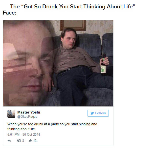 22 Faces Everyone Makes When They're Drunk (22 pics)