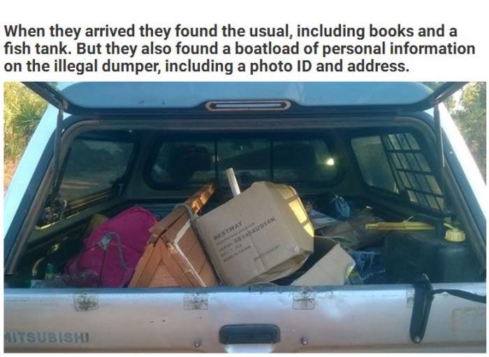 Illegal Dumper Gets A Taste Of His Own Medicine (3 pics)