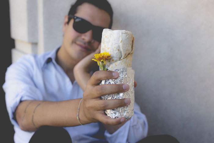 Meet The Man Who Took Engagement Photos With A Burrito (16 pics)